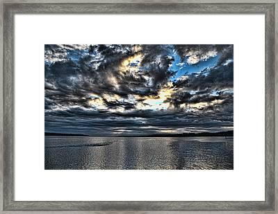 Stormy Morning Framed Print