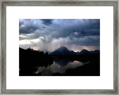 Stormy Mountain Framed Print by Jonathan Schreiber