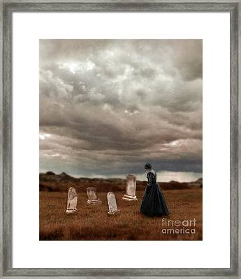 Stormy Mourning  Framed Print by Jill Battaglia