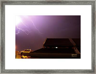 Framed Print featuring the photograph Stormy Night by Itzhak Richter