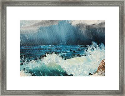 Stormy Night Framed Print by Katheryn Napier