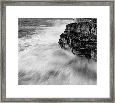 Framed Print featuring the photograph Stormy Sea 1 by Pedro Cardona