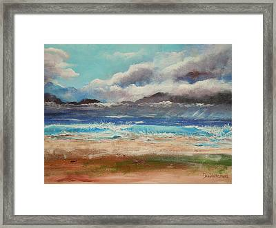 Stormy Shore Framed Print