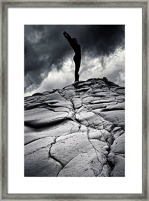 Stormy Silhouette Framed Print by Stelios Kleanthous