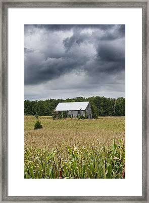 Stormy Skies At A Maryland Farm Framed Print