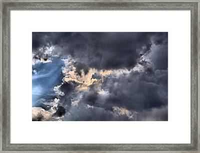 Stormy Skies Framed Print by Lynnette Johns