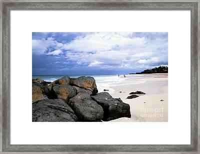 Stormy Sky Banzai Beach Framed Print by Thomas R Fletcher