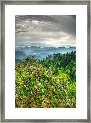 Stormy Spring Skies Framed Print by Bob and Nancy Kendrick