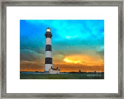 Stormy Sunrise Wc Framed Print by Dan Carmichael