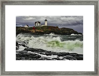 Stormy Tide Framed Print by Rick Berk