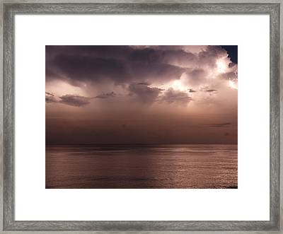 Stormy Weather Framed Print by Arnaud Fouche