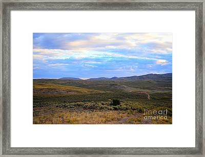 Stormy Wyoming Sunrise I Framed Print