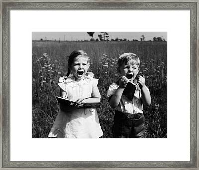 Storybook Children Framed Print by Archive Photos