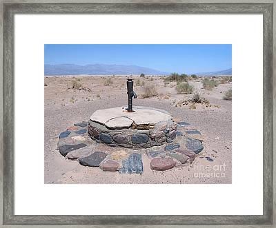 Stovepipe Well In The Desert Framed Print