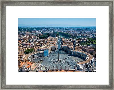 St.peter's Square And Part Of Rome Framed Print