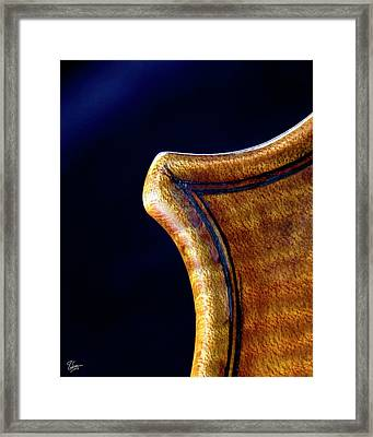 Framed Print featuring the photograph Stradivarius Corner Closeup by Endre Balogh