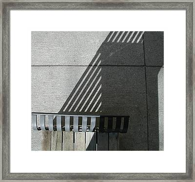 Straight Curves Framed Print by Jane Bucci