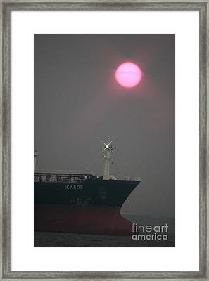 Straits Of Verrazano Framed Print
