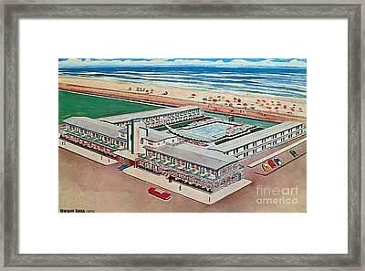 Strand Motel And Restaurant In Atlantic City N J 1950's Framed Print by Dwight Goss