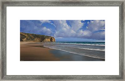 Strands Beach Dana Point Painting Framed Print