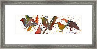 Strange Birds Framed Print by Miindy Newman