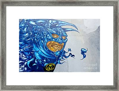 Strange Graffiti Creature Framed Print