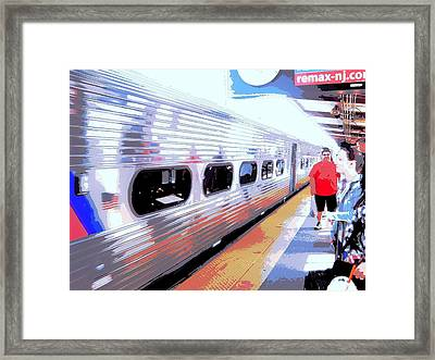 Strangers Almost On A Train Framed Print by Don Struke