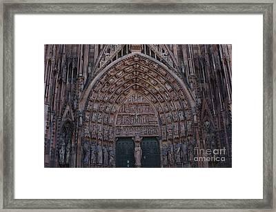 Strasbourg Cathedral Entranceway Framed Print