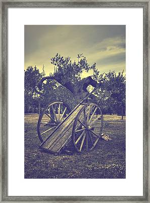 Straw Cart Framed Print by Joana Kruse