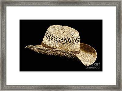 Straw Hat Framed Print
