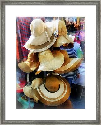 Straw Hats Framed Print