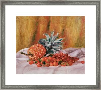 Strawberries And Pineapple Framed Print by Pierre Auguste Renoir