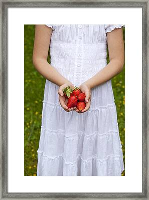 Strawberries Framed Print by Joana Kruse