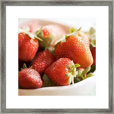 Strawberries Framed Print by Kim Fearheiley