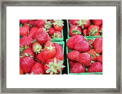 Strawberries Framed Print by Kim French