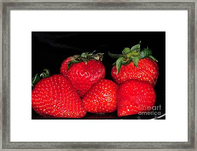 Strawberries Framed Print by Paul Ward