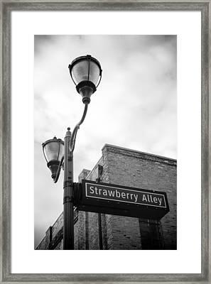 Strawberry Alley Framed Print by Paul Bartoszek