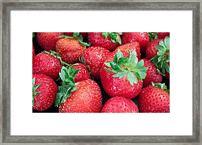 Framed Print featuring the photograph Strawberry Delight by Sherry Hallemeier