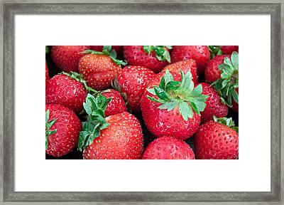 Strawberry Delight Framed Print