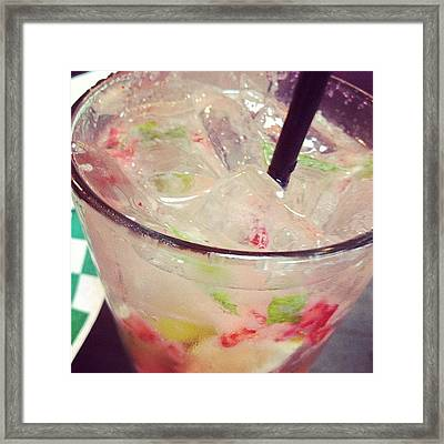 Strawberry Mojito From Friday's Dinner Framed Print