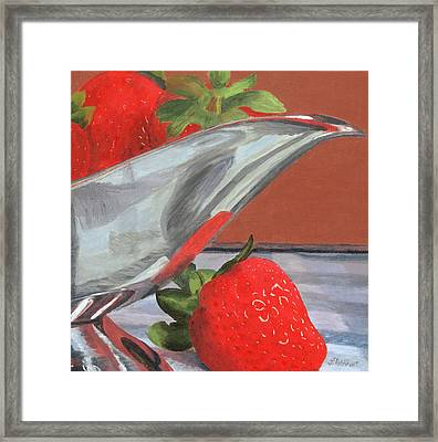 Strawberry Season Framed Print by Lynne Reichhart