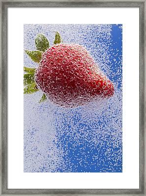Strawberry Soda Dunk 2 Framed Print by John Brueske
