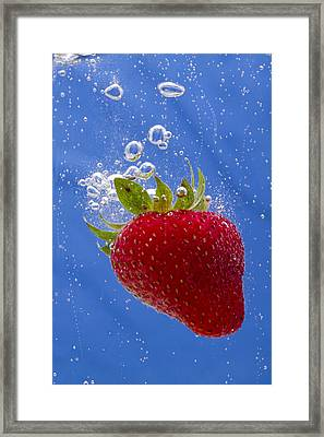 Strawberry Soda Dunk 3 Framed Print by John Brueske