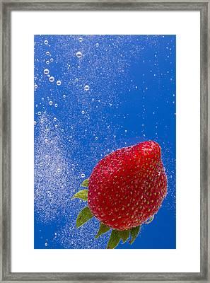 Strawberry Soda Dunk 4 Framed Print by John Brueske