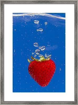 Strawberry Soda Dunk 6 Framed Print by John Brueske