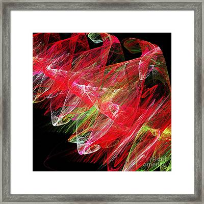 Strawberry Swirls Framed Print by Andee Design