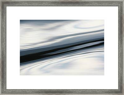 Framed Print featuring the photograph Streak Of Blue by Cathie Douglas