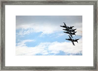 Streaking Across The Sky Framed Print
