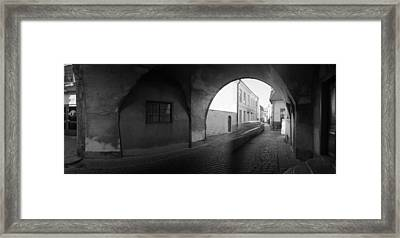Streaking Car Visby Framed Print by Jan W Faul