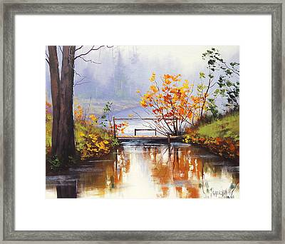 Stream Crossing Framed Print by Graham Gercken